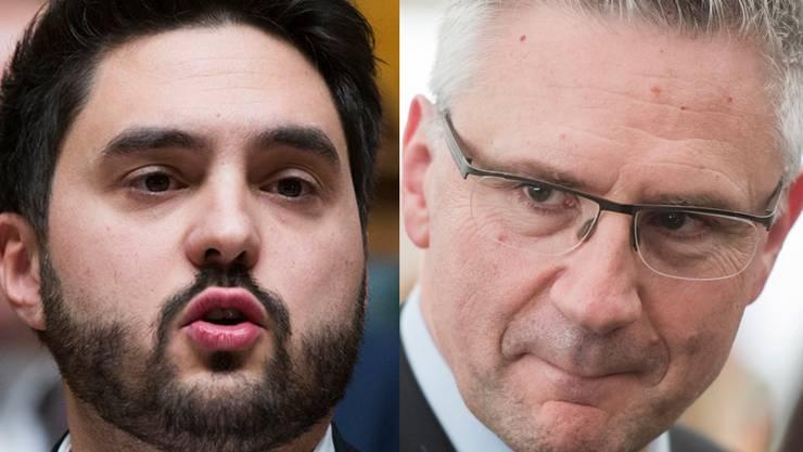 Cédric Wermuth (SP) und Andreas Glarner (SVP) kämpfen derzeit um das Partei-Präsidium.