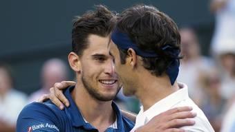 Federer verliert gegen Thiem (Indian Wells, März 2019)