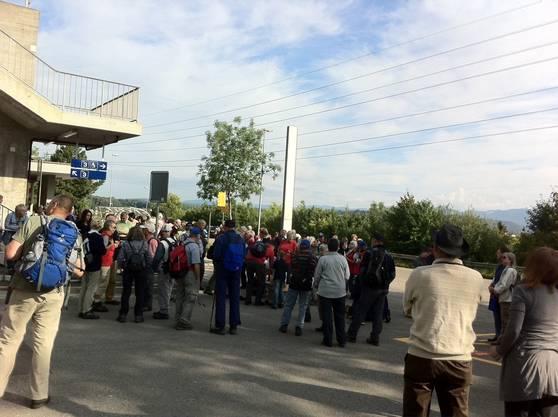 Ganze 230 Wanderer zog es heute Morgen in die Fricktaler Gemeinde Mumpf...