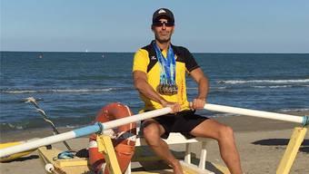 Am Strand von Riccione in Italien gewann Michael Beck sechs von zehn EM-Medaillen.