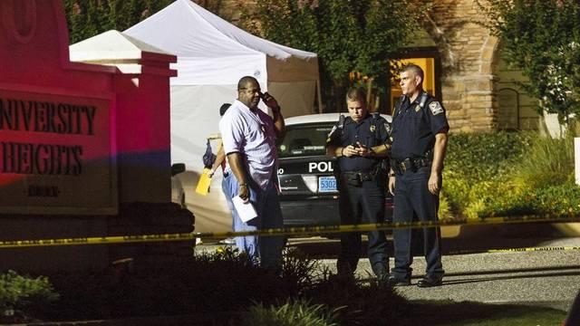 Sicherheitskräfte vor Ort: Bei der Schiesserei starben drei 20-jährige Personen