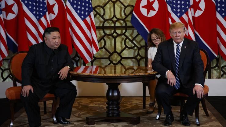 Impressionen vom Gipfeltreffen zwischen Donald Trump und Kim Jong Un in Hanoi.