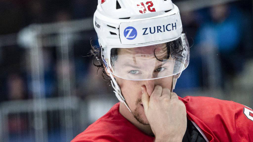 Gaëtan Haas war einer der Aktivposten der Schweizer gegen Schweden