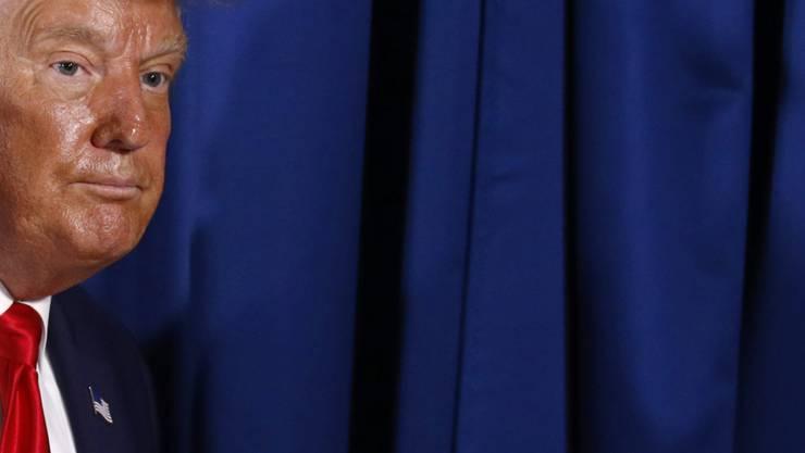 Donald Trump, Präsident der USA, nach einer Gesprächsrunde. Foto: Patrick Semansky/AP/dpa