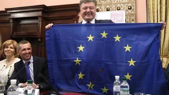 Petro Poroschenko, Präsident der Ukraine, möchte mit seinem Land in die EU. Die Europäer wollen ihn aber vorerst (noch) nicht.