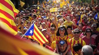 Hunderttausende Katalanen demonstrieren für Unabhängigkeit