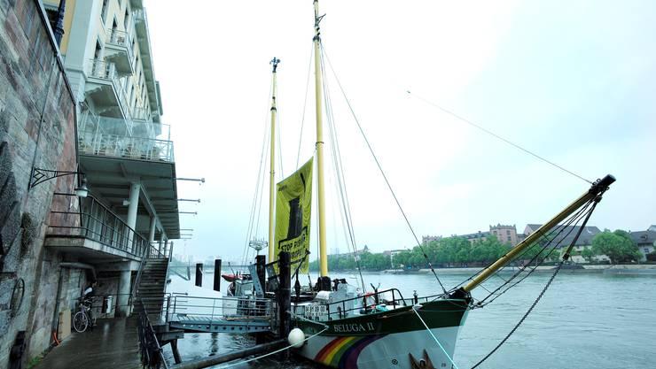 Die «Beluga II» hat am Sonntag an der Schifflände angelegt.