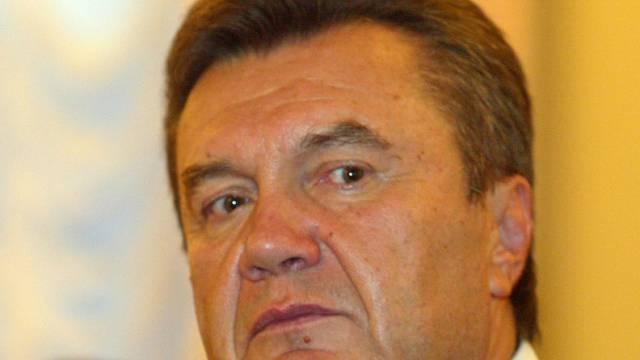 Schurkengesicht: der gestürzte ukrainische Präsident Janukowitsch