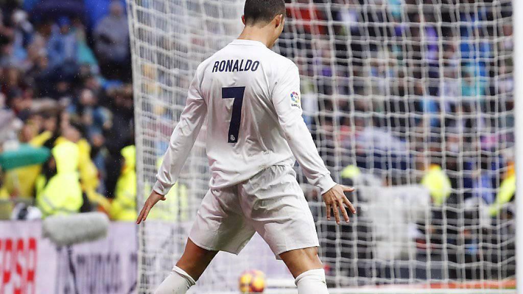 War Reals grosser Unterhalter beim 2:1 gegen Sporting Gijon: Cristiano Ronaldo