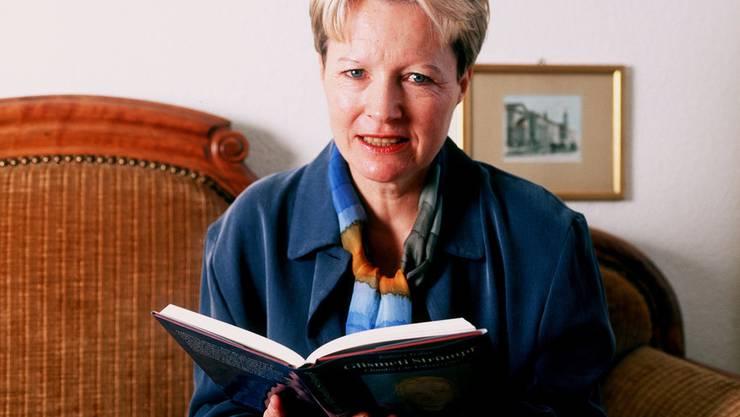 Die Schriftstellerin Barbara Traber. Aufgenommen 1998.