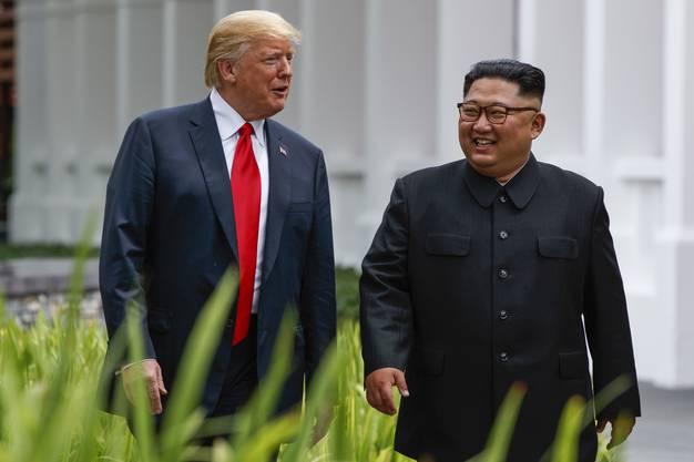 Donald Trump und Kim Jong Un in Singapur
