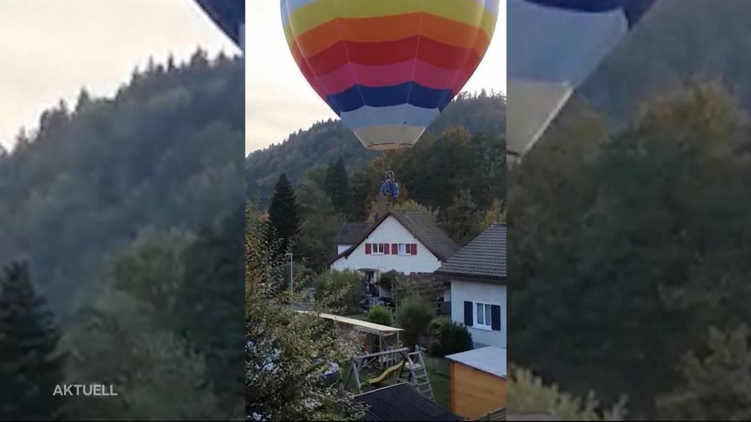 Ein Heissluftballon sorgte bei den Anwohnern in Teufenthal für Aufregung