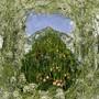 """Verschmelzung von Bild und Blumen: Die florale Interpretation von Ferdinand Hodlers Werk """"Der Niesen vom Heustrich aus""""."""