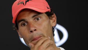 Rafael Nadal an einem Medientermin im Januar in Melbourne