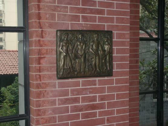 Im Restaurant von Husers Enkel Philippe Huser in Schanghai hängt ein Werk des Wettinger Künstlers.