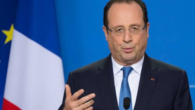 Der französische Präsident Hollande griff ins Fettnäpfchen (Archiv)