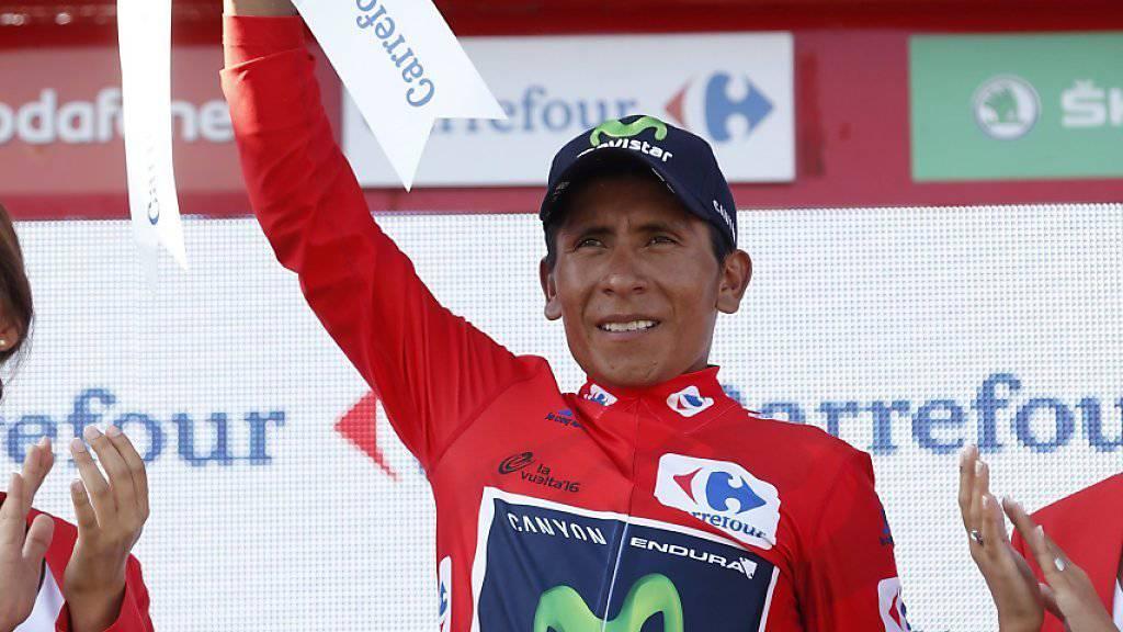 Nairo Quintana - der grosse Profiteur der zweiten Pyrenäen-Etappe an der Vuelta