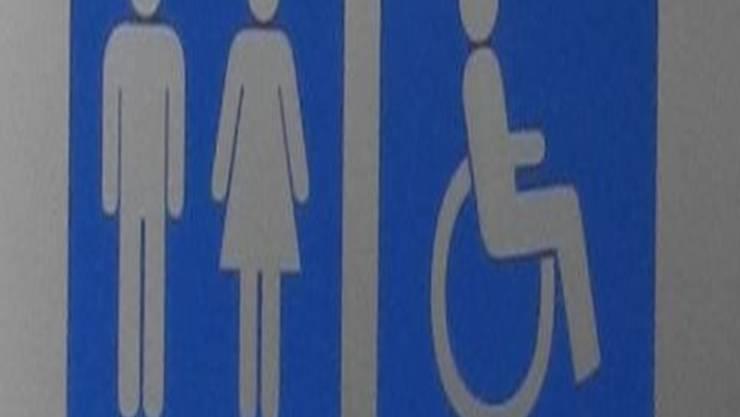 Das Wettinger Rathaus-WC ist eine der wenigen behindertengerechten Toilettenanlagen. Martina Wildis