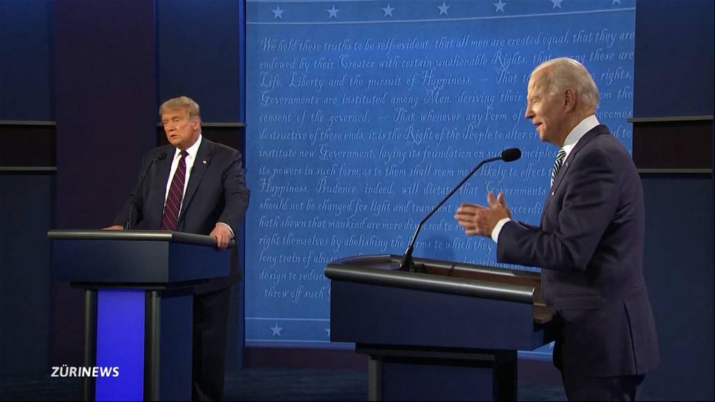 Donald Trump und Joe Biden liefern sich schmutzige TV-Debatte