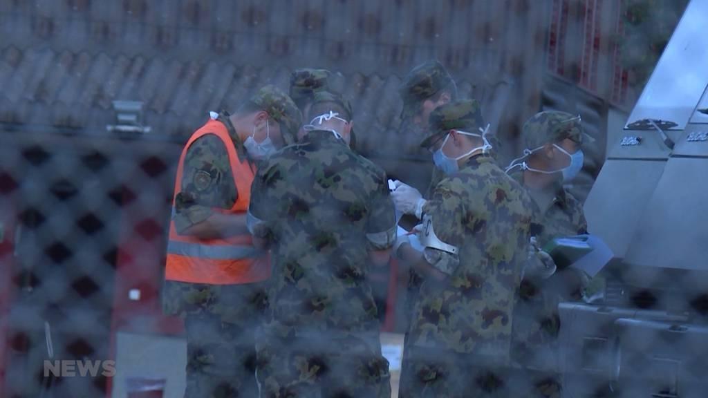 Dutzende Rekruten notfallmässig eingeliefert