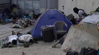 So leben die allermeisten der mehr als 12'000 Ex-Moria-Bewohner derzeit.
