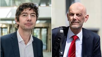 Zwei Virologen, zwei Haltungen: Christian Drosten von der Berliner Charité und Daniel Koch, Covid-19-Delegierter des BAG.