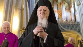 Der griechisch-orthodoxe Patriarch Bartholomäus I. besuchte am Montag die Kathedrale St. Nikolaus in Freiburg.