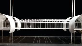 """Die """"Brücke"""" soll wie eine Strasse die beiden Tunnel und die drei Pavillons verbinden, und sich in sechs Metern Höhe über die Route de Meyrin spannen."""
