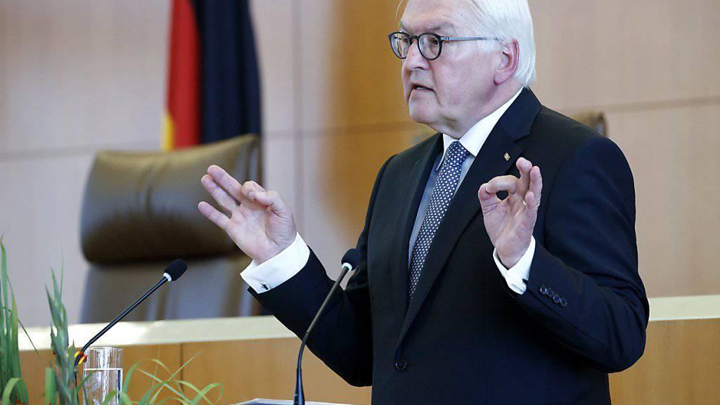 Ungewöhnlich scharfe Töne: der deutsche Bundespräsident Frank-Walter Steinmeier. (Archivbild)