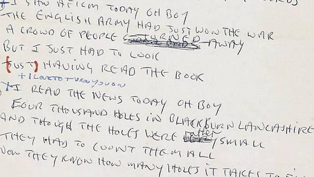 Teil des Songtextes von Lennon