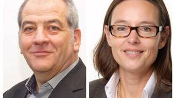Herausforderer und Amts-Inhaberin: Christoph Morat von der SP und Nicole Nüssli von der FDP.