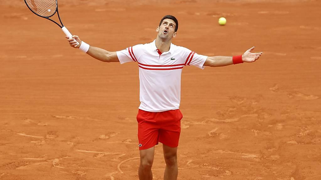 Für Novak Djokovic sah es nach zwei Sätzen schlecht aus.