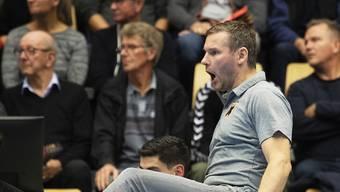 Kadettens Trainer Petr Hrachovec gibt vollen Einsatz
