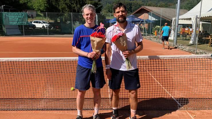 v.l.n.r. Alain Vorpe / TC Arlesheim (Finalist) und Philippe Sudan / TC Olten (Sieger)