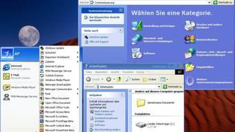 Bildschirm mit Windows XP-Betriebssystem. (Symbolbild)