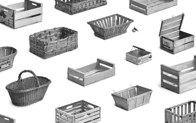 Collections Typologie, Studie zur Obst- und Gemüsekiste, 2019