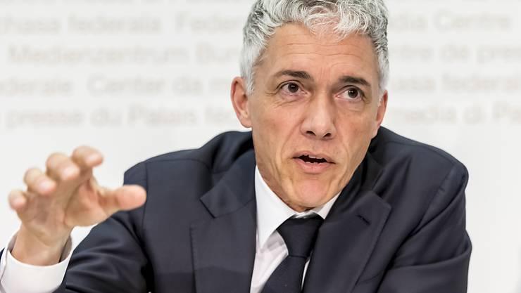 Bundesanwalt Michael Lauber spricht über Fälle, welche die Bundesanwaltschaft im vergangenen Jahr besonders beschäftigt haben. Dazu gehören Verfahren im Zusammenhang mit dem Petrobras-Skandal.