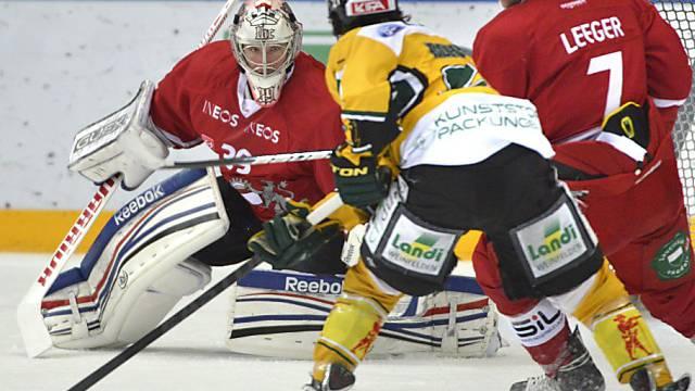 Lausannes Goalie Cristobal Huet (l.) kassierte gegen Thurgau nur einen Gegentreffer.