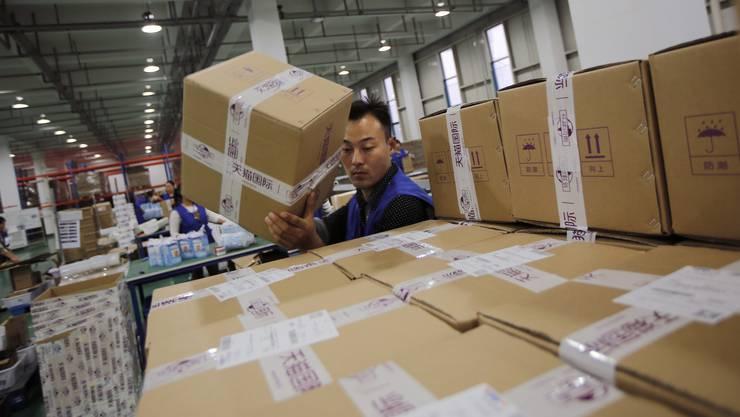 Die Zahl der in Asien bestellten Waren wächst stark.