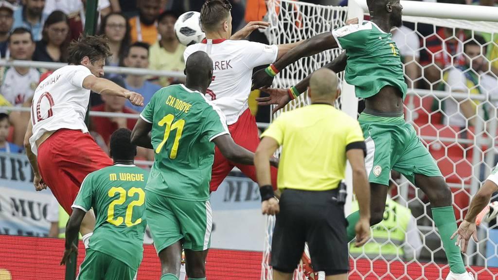 Senegal (in Grün) lässt Polen hinter sich.