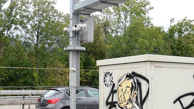 Im Visier: Zum Beispiel die Anlage auf der A1 bei Niederbuchsiten.