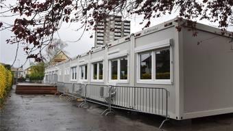 Noch ist im Provisorium der Kindergarten untergebracht.