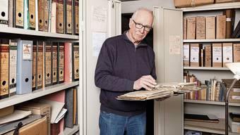 Für die «Aargauer Zeitung» gibt Lorenz Stäger Einblick in das umfangreiche Archiv seines Vaters Robert.