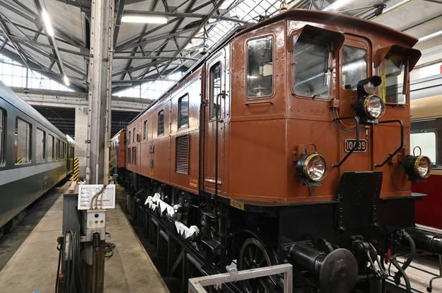 Die Lokomotive ist im Depot Olten untergebracht.