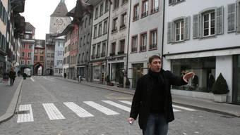 Stefano Bradanini in der Rathausgasse: «Die dritte Bauetappe ist besonders anspruchsvoll.» Kel