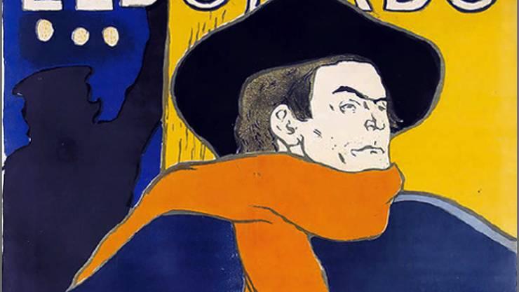 Dieses Plakat, das einen Auftritt des Sängers Aristide Bruant ankündigt, ist eines der bekanntesten Werke von Henri de Toulouse-Lautrec und eines von etwa 100 Exponaten in der Fondation Gianadda.