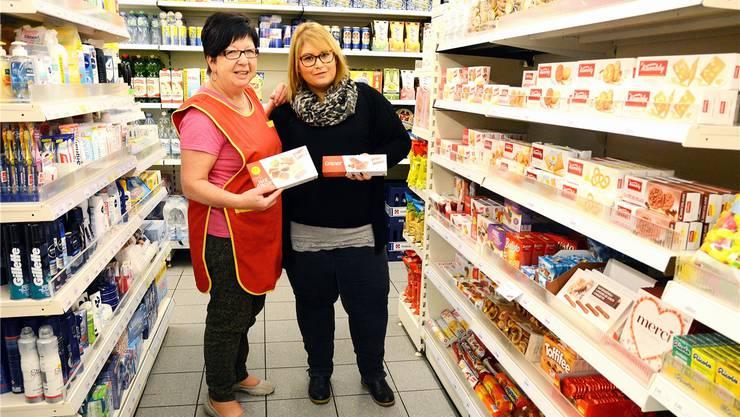 Katharina Strähl (links) geht bald in die verdiente Pension und Nicole Leuzinger übernimmt den Dorfladen Stüsslingen.