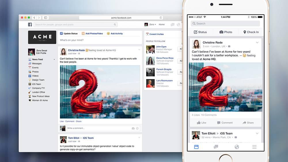 Vernetzt: Facebook will auch die Arbeitswelt erobern