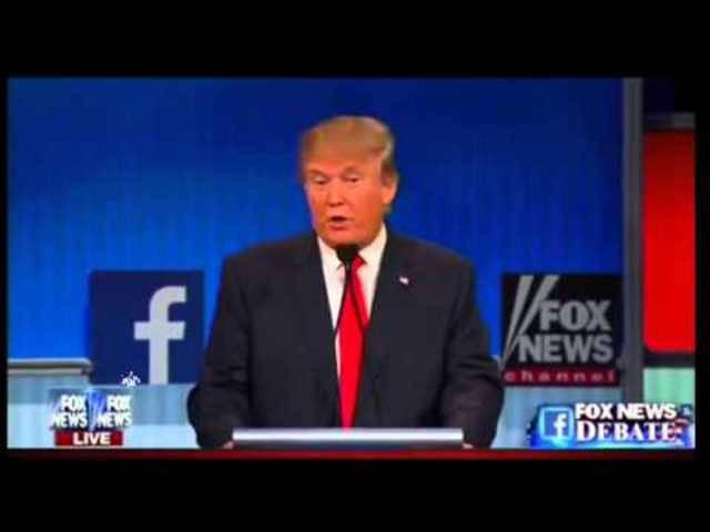 US-Unternehmer Donald Trump teilt an der ersten TV-Debatte heftig aus