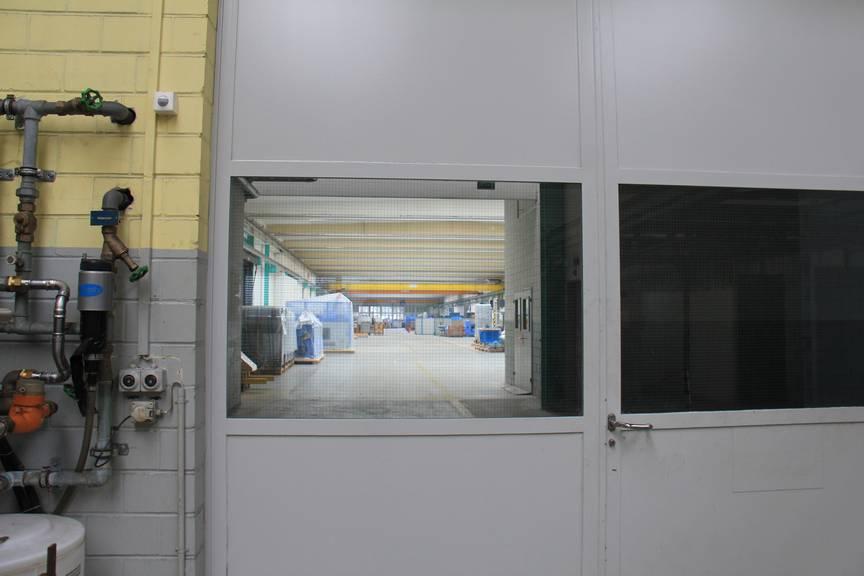 Die Halle 59, in der die Belegschaft Ende Juni 2013 von der Schliessung des Standorts Felben erfuhr (Bild: Stephanie Martina/FM1Today)